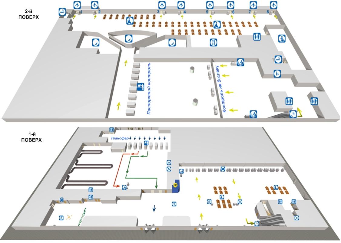 Схема терминала F.